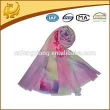 Muslim Stole Digital Printed 100% Material de lã Atacado New Styles Fashion Scarf Shawl