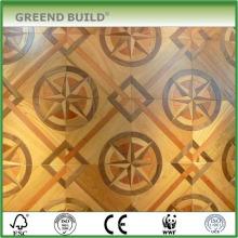 Enfriar el piso de parquet de color dorado de diseño