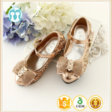Party little girls high heel shoes wholesale summer girl korean honey model girl shoes with silver and gold color