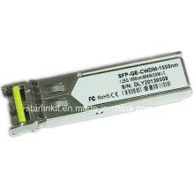 Émetteur-récepteur fibre optique SFP-Ge-CWDM-1550nm tiers compatible avec les commutateurs Cisco