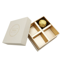 Wholesale Customized 4 Pieces Gift Paper Chocolate Bonbon Packaging Box
