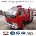 Camión de bomberos doble del agua de las filas de 4ton Dongfeng Duolika Euro3