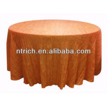 New style crushed/crinkle table cloth for banquet