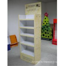 Estante de exhibición de papel corrugado, estantes de exhibición del estallido