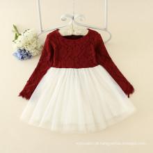 Meninas doces estilo lolita roupas bebê meninas tripulação pescoço princesa rosa formal roupas de festa preço de fábrica barato mais recente projetos