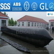 Airbags de goma marinos inflables para el lanzamiento de barcos, ahuyentando, desembarco, rescate de embarcaciones navales, reflujo, levantamiento pesado