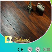 12.3mm AC4 raspado a mano Cherry V-Grooved piso laminado