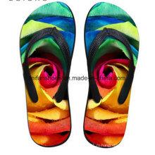 Последние дизайн 3D печать свободного покроя флип-флоп тапочки обувь (FF68-12)