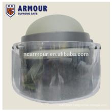 Bulletproof helmet with visor