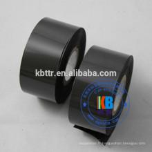 Type de feuille de marquage à chaud noir codant la date d'impression de paquet en plastique de ruban encreur pour la nourriture