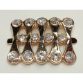Fashion Alloy Shoe Buckles With Rhinestone, Popular Lady Shoe Buckle