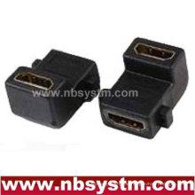 Winkel 90 Grad HDMI A Typ weiblich zu weiblichen Panel Adapter