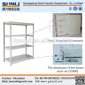 Light duty storage slotted angle rack