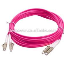 China fonte lc sc fc st cabo de remendo duplex om4 fibra, ponte de fibra óptica, patchcord óptico