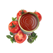 Frische herkömmliche in Büchsen konservierte Tomatenmark