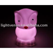 PVC soft gum new design night light lamp