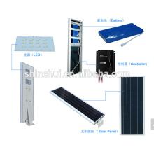 Producto insignia 12w de la estación todo en una luz de calle solar, luz de calle llevada solar con CE IP65 ROHS aprobado