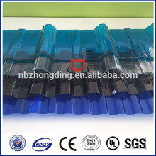 high impact resistance polycarbonate corrugated sheet