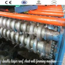 Máquina formadora de rollos (hoja de techo de doble capa)