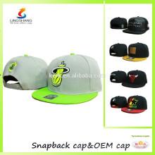 3D custom embroidery on plain pattern snapback sports hat hip hop cap