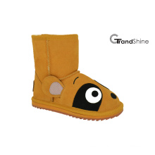 Kid′s Cow Suede Low Boot Lovely Racoon