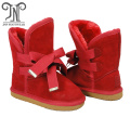 Girls Kids Tall Winter Waterproof Boots Red