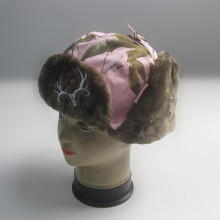 Women Warm Deer Embroidery Trapper Hat