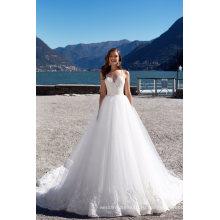 Спагетти Платье Цвета Слоновой Кости Пляж Свадебное Платье Свадебные Платья