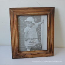 Nouveau cadre photo en bois massif pour cadeau à la maison