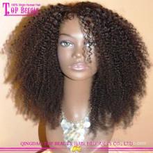 Короткие афро кудрявый человеческих волос парики девственные волосы кружева перед парики для чернокожих женщин