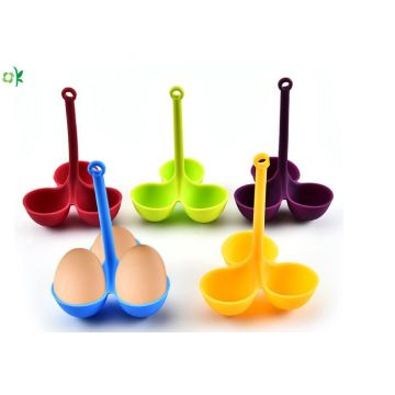 Amazon Hot Sales Silicone Egg Poacher cho bữa sáng