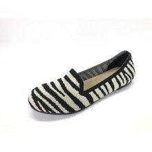 Chaussures plates pour femmes en tricot, chaussures de marche légères et douces