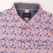 Plain Men's Button Cotton Long Sleeve Work Shirt