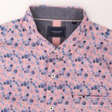 Camisa de trabalho de manga comprida masculina lisa de algodão