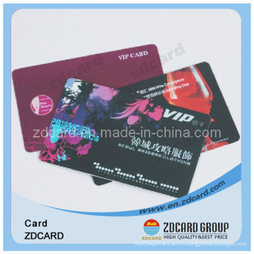 Прозрачная визитная карточка, Прозрачная подарочная карта