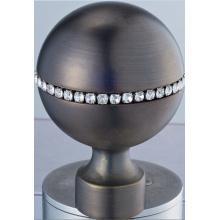 Rideau en métal Rod Finial boule avec cristal