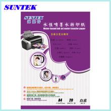 Eco Solvent A4 Inkjet Farbe Wasser Rutsche Abziehbild Weißbuch