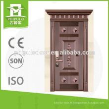 Porte d'entrée anti-balles de qualité supérieure de Yongkang zhejiang