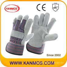 Grey Cowhide Split Leather Industrial Safety Work Gloves (110071)