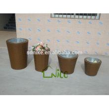 the latest outdoor garden rattan plant vase set