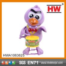 Engraçado 16CM Plástico Wind Up Drummer Pássaro Cheap Toys From China