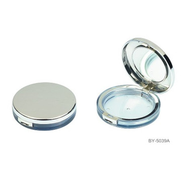 Exquisite Round Compact Powder Container With Mirror
