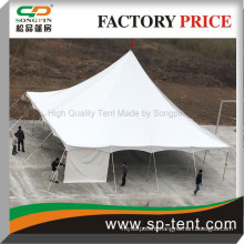 100 People Pegs and pole tent with hot dip Iron poles and waterproof UV protected PVC roof