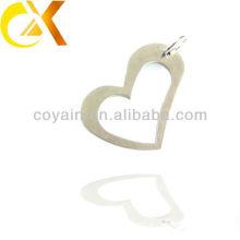 Jóia de prata, pendente personalizado do coração do corte