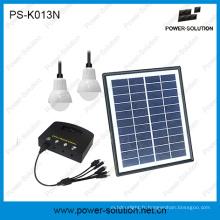 de kits d'éclairage à la maison solaire de grille avec le chargeur d'USB de 2bulbs