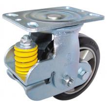 Tipo de absorção de choque PU Caster Fixed / Swivel