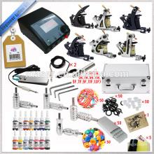 Kit de tatouage à la vente en gros avec 6 mitrailleuses à tatouer, pièces de machine à tatouer, machines à tatouer rotatives à moteur