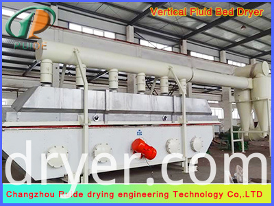 Fluid bed drier for boletic acid