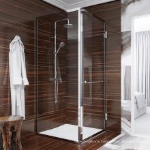 Seawin Bathroom textured Changhong Glass small Hinge Shower Doors