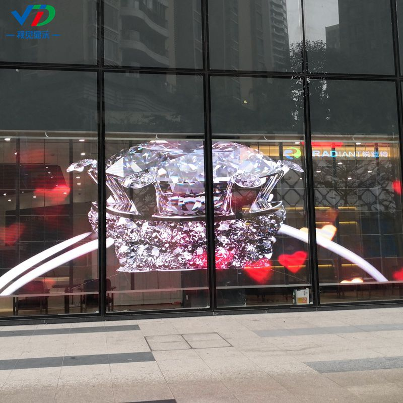 Glass Window Curtain Indoor Advertising Video Wall